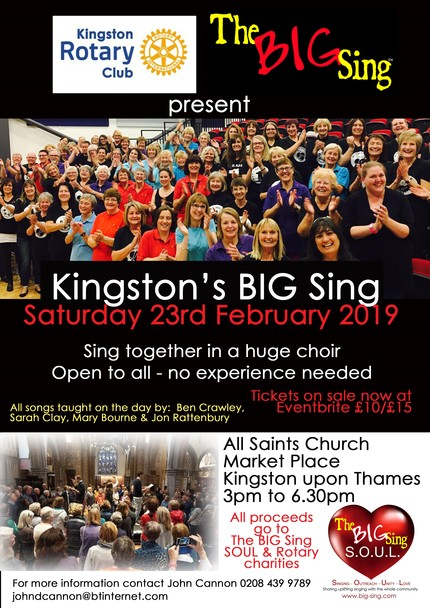 Advert for 2019 Big Sing Evant